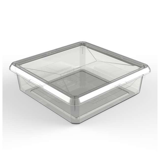 FBA32784 Ezy Storage Karton 6 Liter/6.3 Quart Plastic Storage Container Bin Box w/ Lid 1