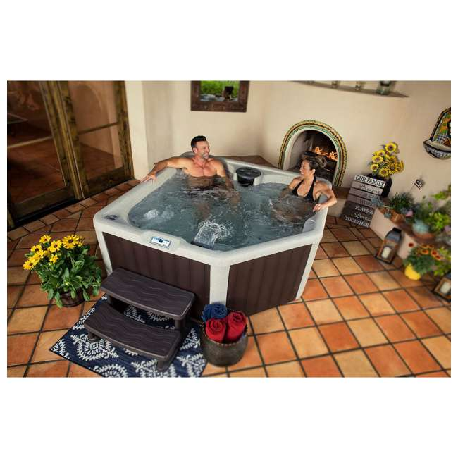 LS100-PLUS Lifesmart Spas 20 Jet Digital 4 Person Plus Plug & Play Hot Tub Spa with Cover 3
