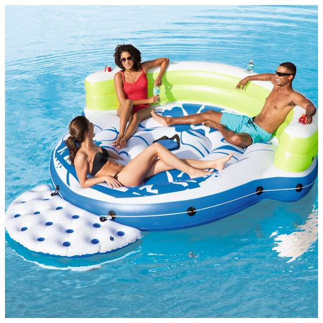 43120-BW Bestway CoolerZ Kick Back Lounge 3-Person Inflatable Float Island (2 Pack) 2