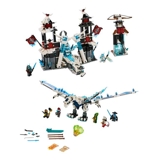 6250938 LEGO Ninjago Castle of the Forsaken Emperors 1218 Piece Kit with 7 Minifigures 1