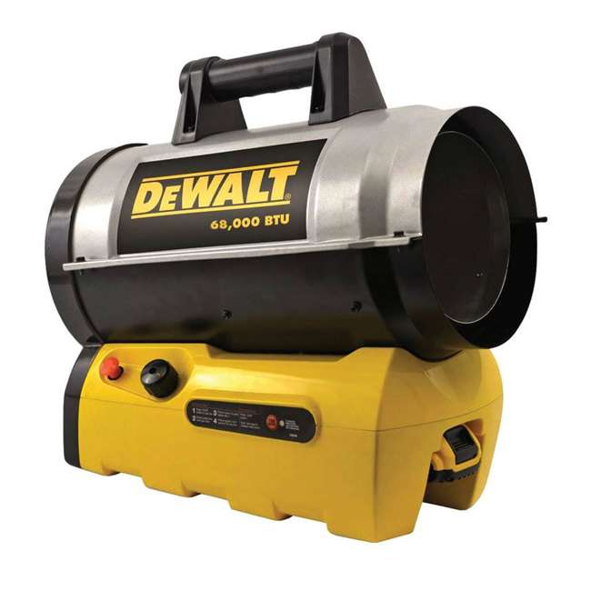 MH-F340661 DeWalt F340661 68,000 BTU Jobsite Portable Cordless Forced Air Propane Heater 2