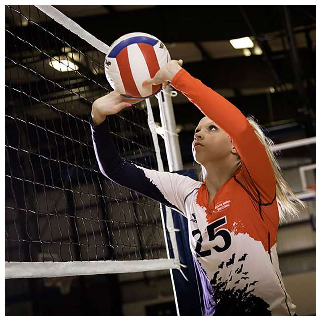VN700 Champion Sports Official Olympic Sized 32 x 3.13 Inch Volleyball Net, White 3