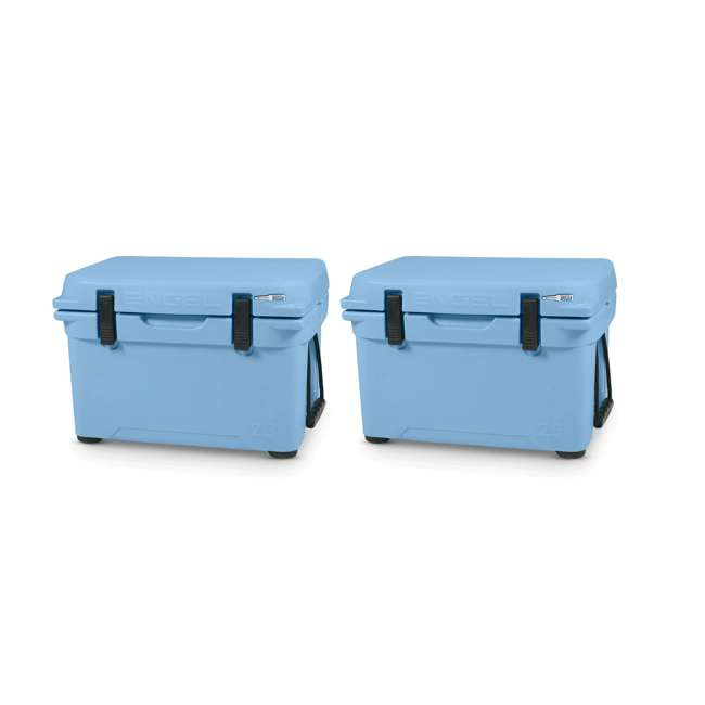 ENG25-B Engel 25 High-Performance Roto-Molded Cooler, Arctic Blue (2 Pack)