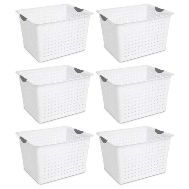 24 x 16288006-U-A Sterilite Deep Ultra Plastic Storage Bin Baskets - White (Open Box) (24 Pack) 3