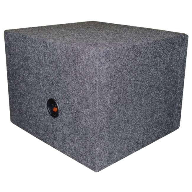 "QSBASS15-VENTED NEW Q-Power 15"" Single Empty Vented Ported Car Audio Subwoofer Sub Box Enclosure 2"