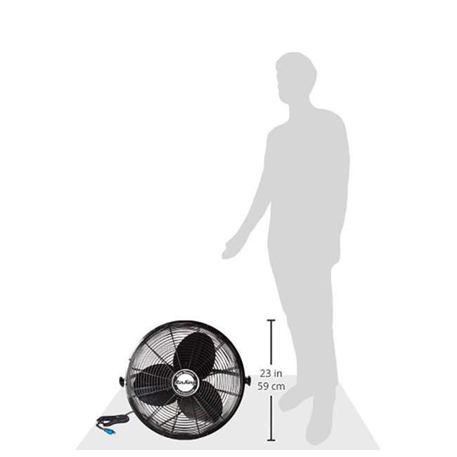 "AK-9020-PA-U-A Air King 20"" 1/6 HP 3-Speed Non-Oscillating Enclosed Wall Mount Fan (Open Box) 4"
