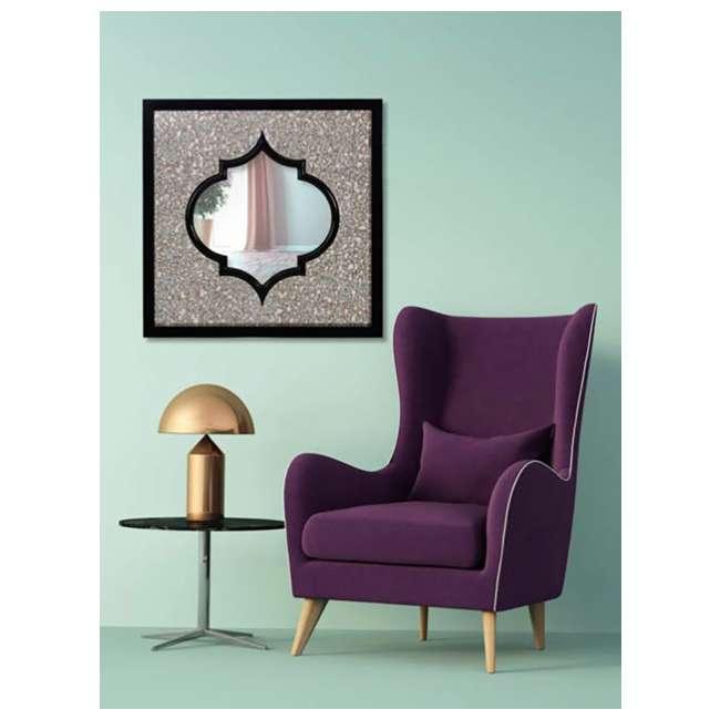 2620-P Majestic Mirror Moroccan Square Black Beveled Glass Decorative Wall Mirror 1