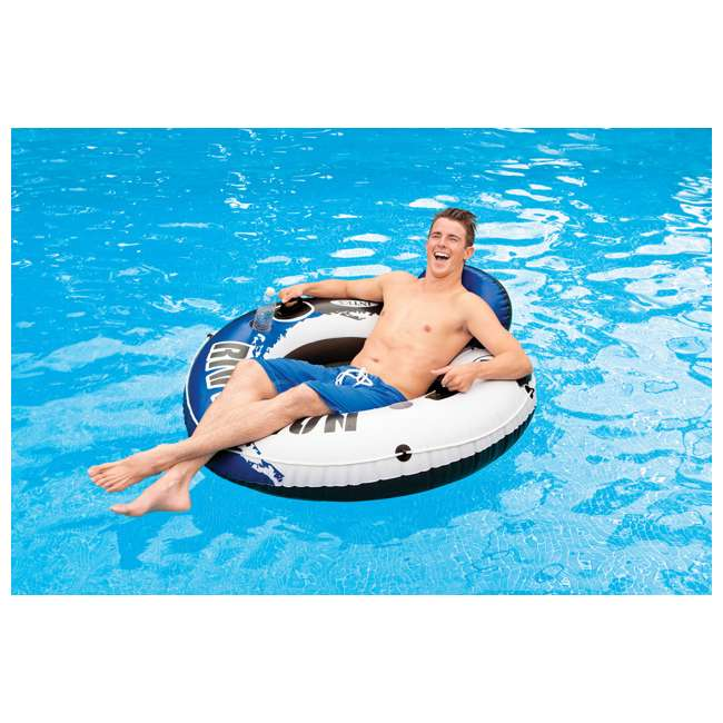 3 x 58825EP-U-A Intex River Run 1 Person Inflatable Floating Tube Raft for Lake/Pool  (Open Box) 1