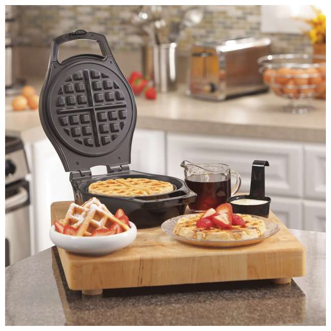 26042 Hamilton Beach 26042 Nonstick Mess Free Belgian Waffle Maker Iron w/ Measure Cup 1