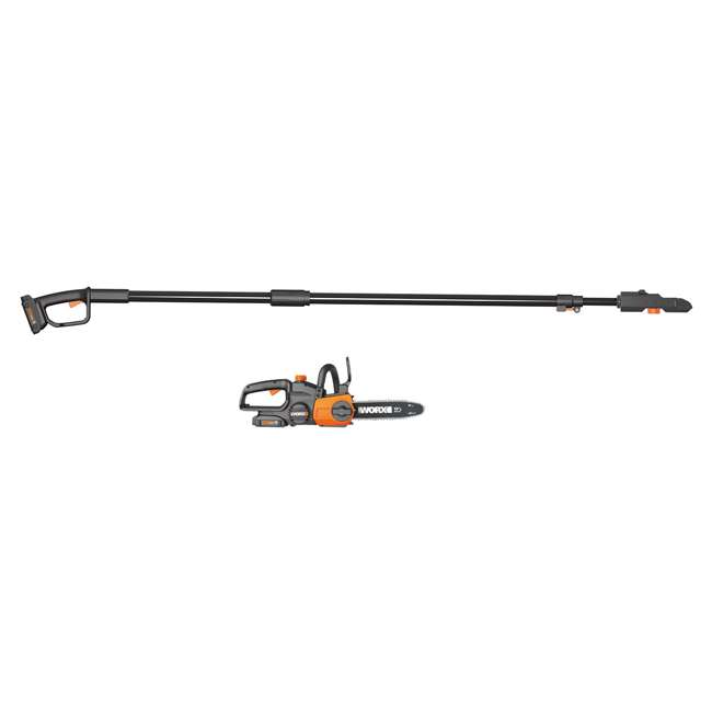 """WG323-U-C Worx 20V 10"""" Auto Tension Electric Pole Chainsaw, Battery & Charger (For Parts) 1"""