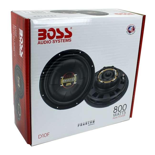 D10F Boss 10-Inch 800 Watt Shallow Subwoofer 6