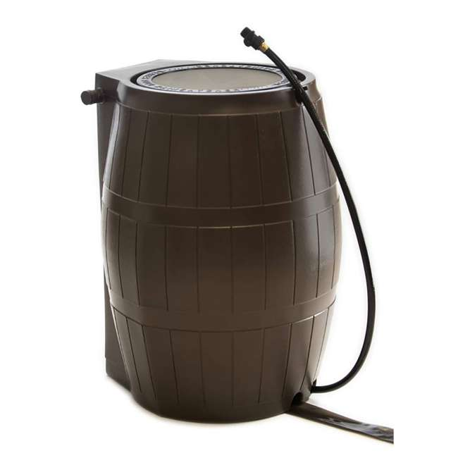 RC4000-BRN FCMP Outdoor RC4000-BRN 45-Gal BPA Free Home Rain Water Catcher Barrel (2 Pack) 1