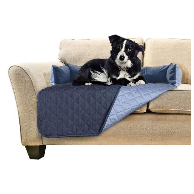49301015-U-A Furhaven Sofa Buddy Furniture Cover, Medium, Navy and Blue (Open Box)