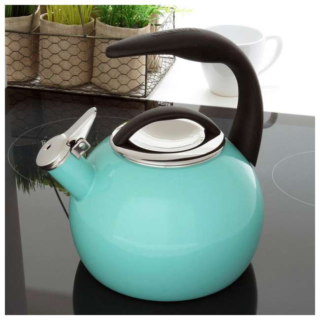 37-ANN-PC Chantal 2-Quart Enamel-On-Steel Anniversary Teakettle, Blue (2 Pack) 2
