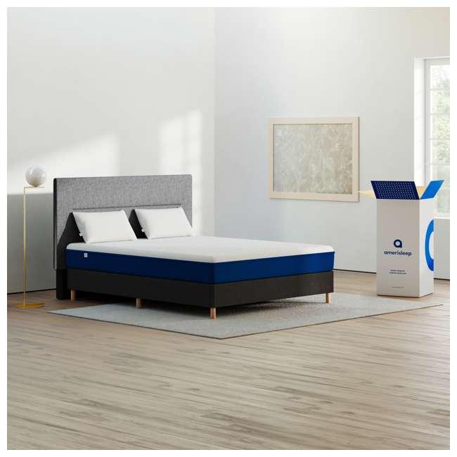 AS1-F Amerisleep AS1 Back and Stomach Sleeper Firm Memory Foam Bed Mattress, Full 5