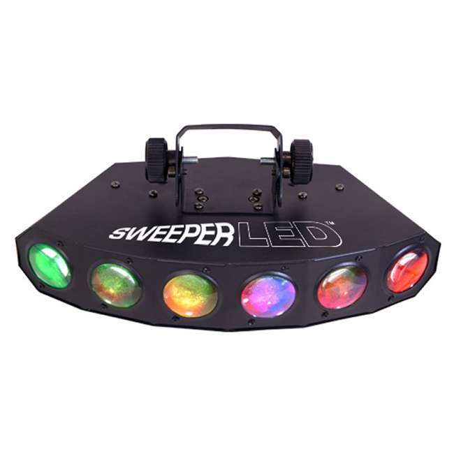 SWEEPER-LED + H700 + 2 x CH-730 Chauvet Sweeper LED 8 Ch DMX DJ Effect Light + Fog Machine + (2) Mini Strobes 1