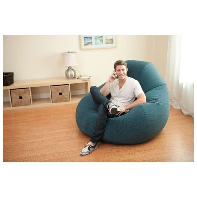 Intex Inflatable Lounge Beanless Lounger Bag Chair Teal