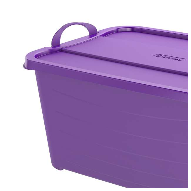 CS55PP-SOLID-U-A Life Story 55 Quart Locking Stackable Storage Container, Purple (Open Box) 1
