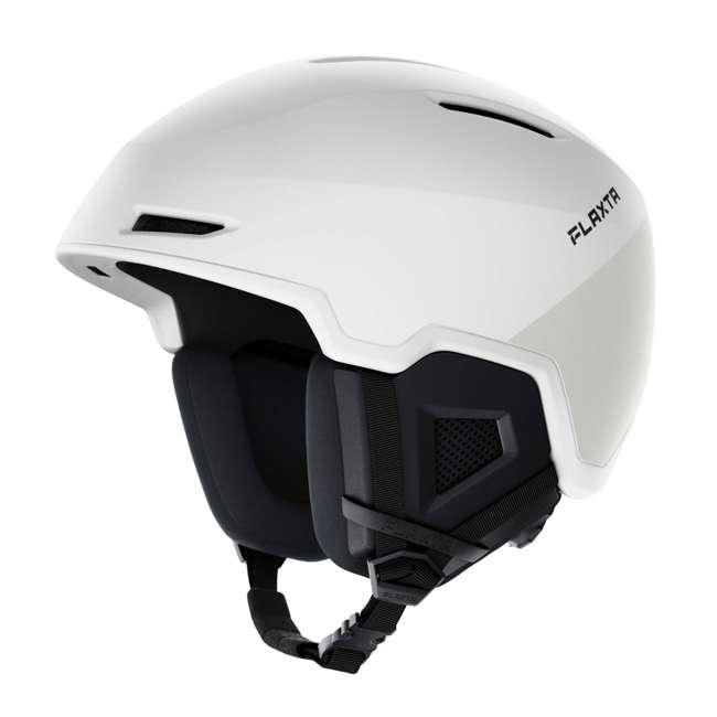 FX901102072SM Flaxta Exalted Protective Ski and Snowboard Full Helmet Small/Medium Size, White