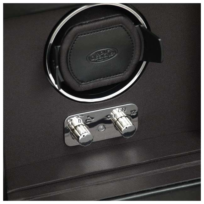 270302 WOLF 270302 Heritage 2.1 Single Watch Winder with Cover and Storage, Black 3