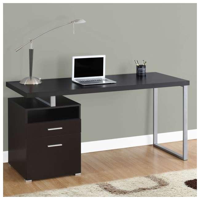 VM-7143 Monarch Specialties 60 Inch Industrial Design Office Computer Desk, Cappuccino 2