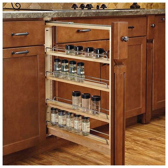 432-BF-3C-24 Rev A Shelf 3 Inch Base Filler Pullout Kitchen Wooden Spice Rack Holder Shelves 1