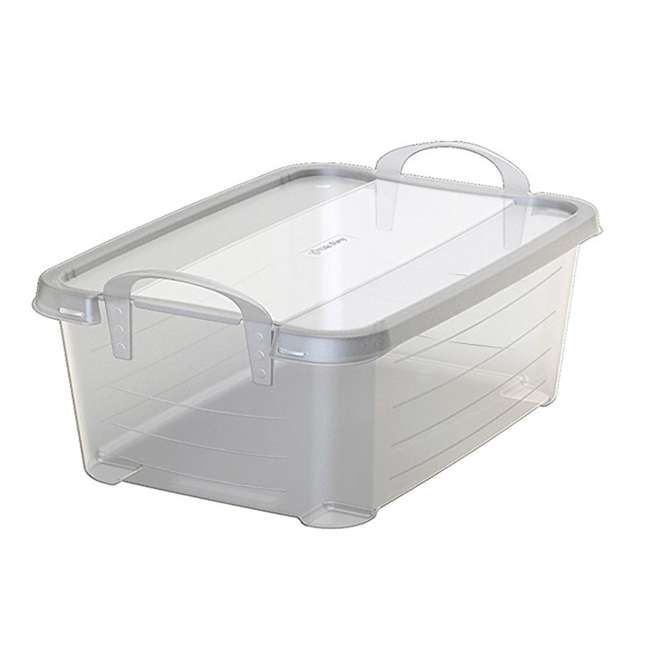 CS-12-U-A Life Story Clear Stackable Storage Container, 14 Quart (Open Box) (2 Pack) 1