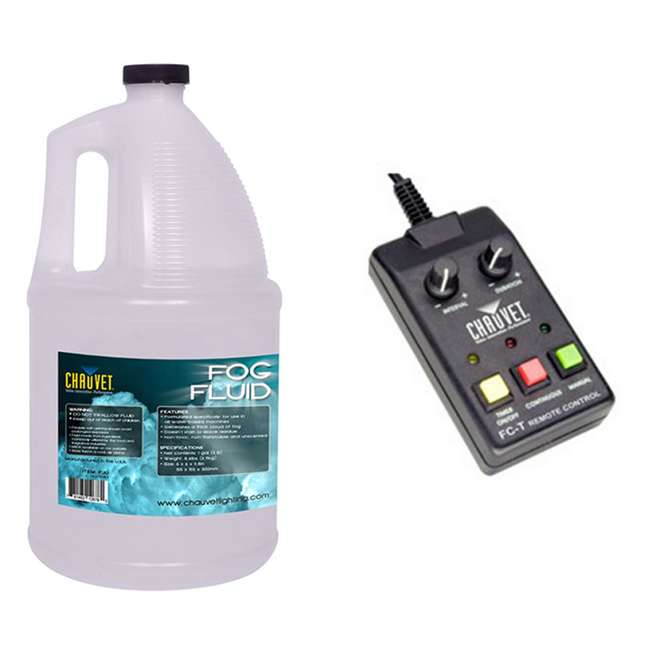 FC-T + FJU CHAUVET FC-T Wired Fog Machine Remote Timer + FJU Fog/Smoke Juice Gallon