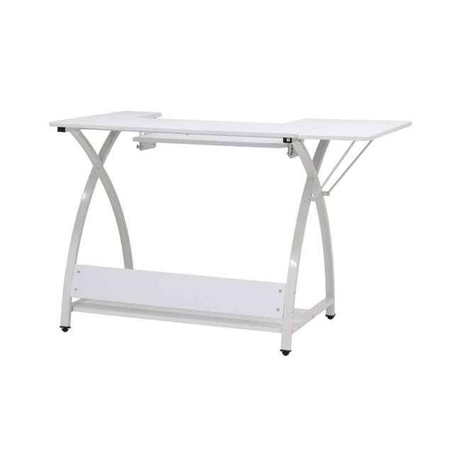 STDN-38017 Sew Ready STDN-38017 Venus Sewing Machine Craft Hobby Table Computer Desk, White 9