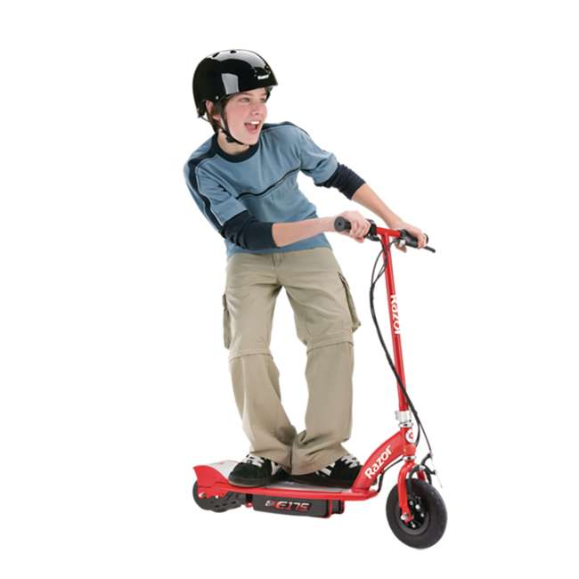 13111259-U-A Razor E175 Electric Scooter, Red (Open Box) 1