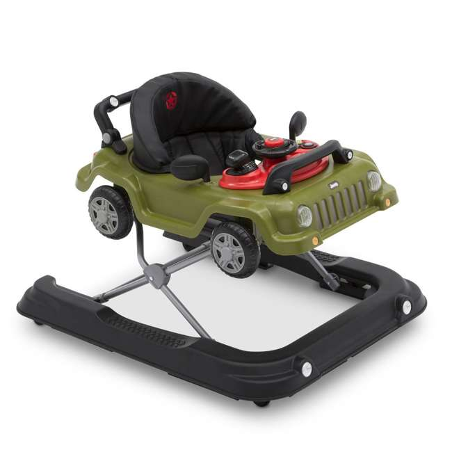 22408-348 Jeep Classic Wrangler 3 in 1 Activity Baby Walker & Toy Car, Anniversary Green