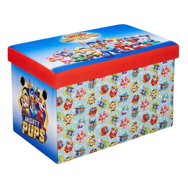 520021-005 Fresh Home Elements 30-Inch Licensed Folding Super Toy Chest & Bench, Paw Patrol