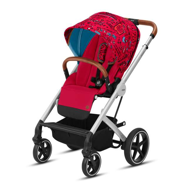 519000423 Cybex Balio S Convertible Baby Infant Baby Stroller with Sun Canopy, Love Red