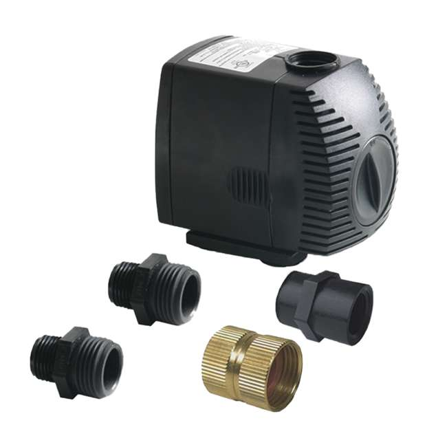 ALG-81062 + ALG-86002 Algreen 500GPH Watering System Pump + 50 Gallon Rain Water Collection Barrel 1