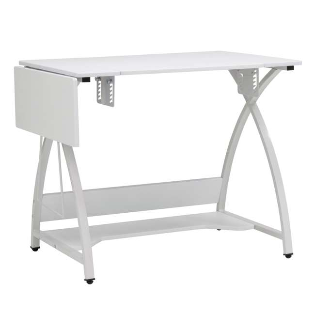STDN-38017 Sew Ready STDN-38017 Venus Sewing Machine Craft Hobby Table Computer Desk, White 2