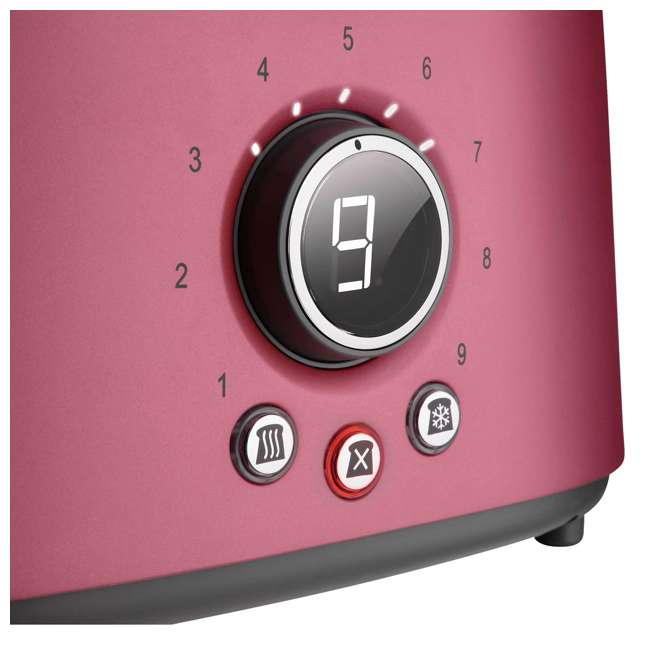 STS6054RD-NAA1 Sencor STS 6054RD Electric Wide 2 Slice High Lift Toaster w/ Rack, Metallic Red 6