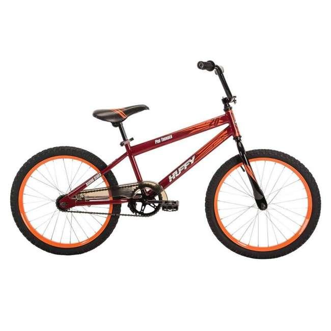 23308 Huffy 20 Inch Pro Thunder Durable Steel Frame Single Speed Coaster Bike, Red