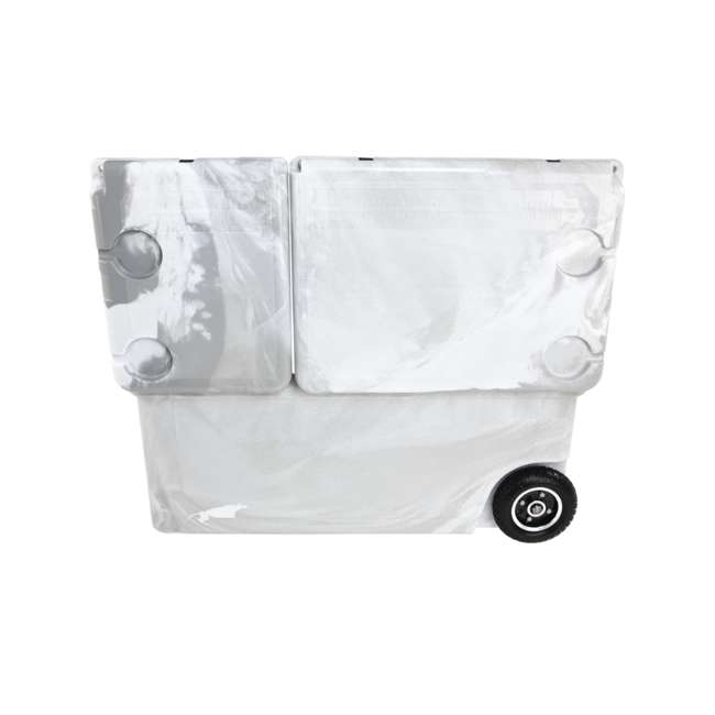 HC75-17W WYLD 75 Quart Pioneer Dual Compartment Insulated Cooler w/ Wheels, White/Grey 5