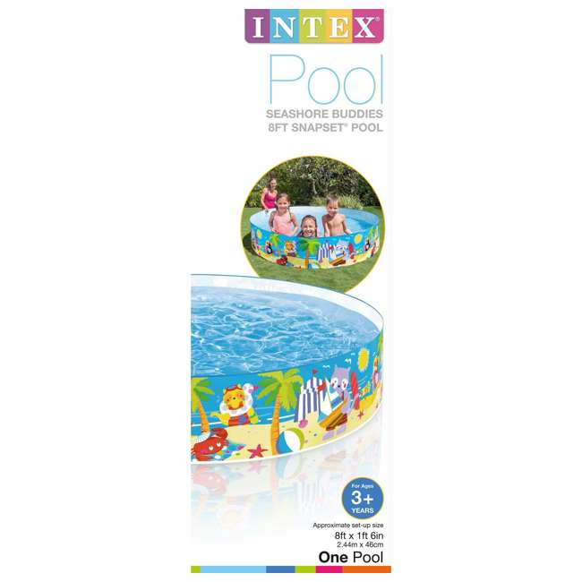 58457EP-U-A Intex Seahorse Kids 8 Foot Instant SnapSet Swimming Pool  (Open Box) (2 Pack) 2