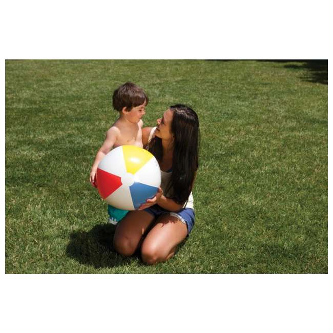 59020EP Intex Classic Inflatable Glossy Panel Colorful Beach Ball - (Set of 2) | 59020EP 2