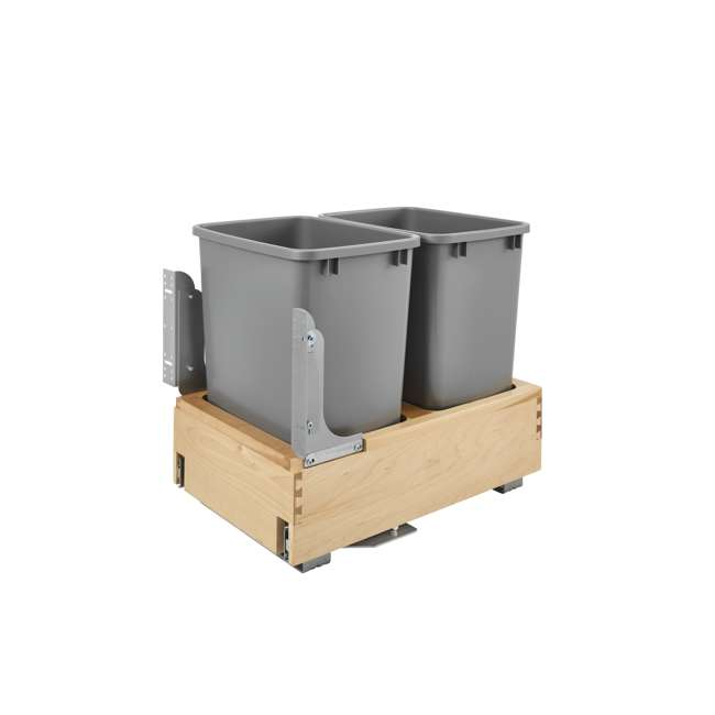 4WCBM-18DM-2 Rev-A-Shelf 4WCBM-18DM-2 Double 35 Quart Base Cabinet Pull Out Waste Containers