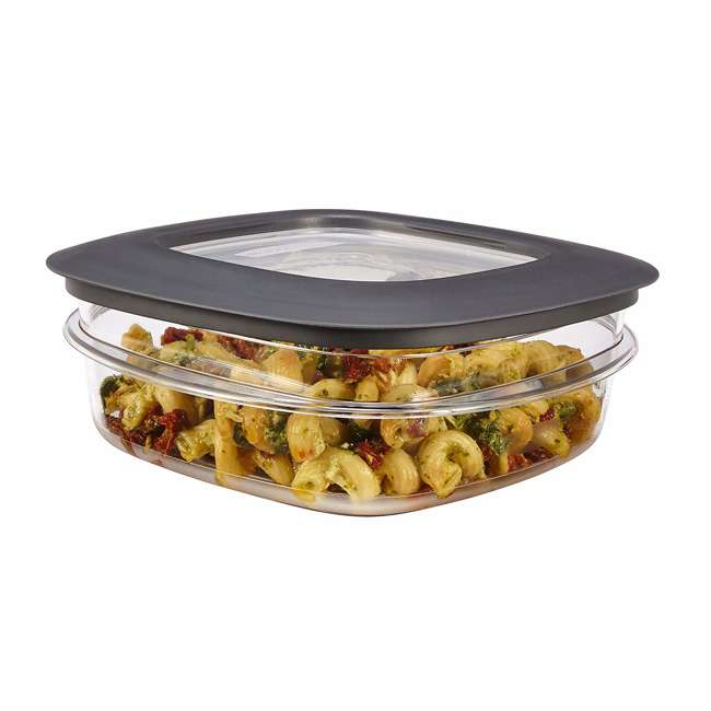 1937648 Rubbermaid 3-Cup Square Storage Container with Lid, Clear 1