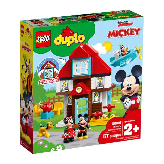 6250698 LEGO DUPLO 10889 Disney Junior Mickey's Vacation House Building Kit w/ 4 Figures 2