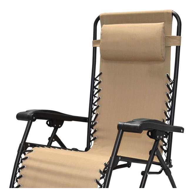 CVAN80009000152-2PK-U-B Caravan Canopy Infinity Zero Gravity Steel Frame Patio Deck Chair (Pair) (Used) 3