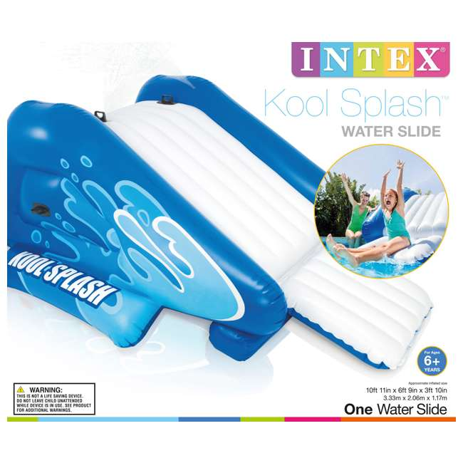 58849EP Intex Kool Splash Inflatable Play Center Swimming Pool Water Slide Accessory 4
