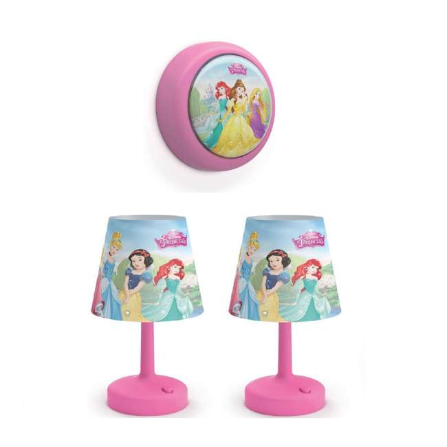 PLC-7192428U0 + 2 x PLC-7179628U0 Philips Disney LED Night Light w/ Philips Disney Princess Lamp (2 Pack)