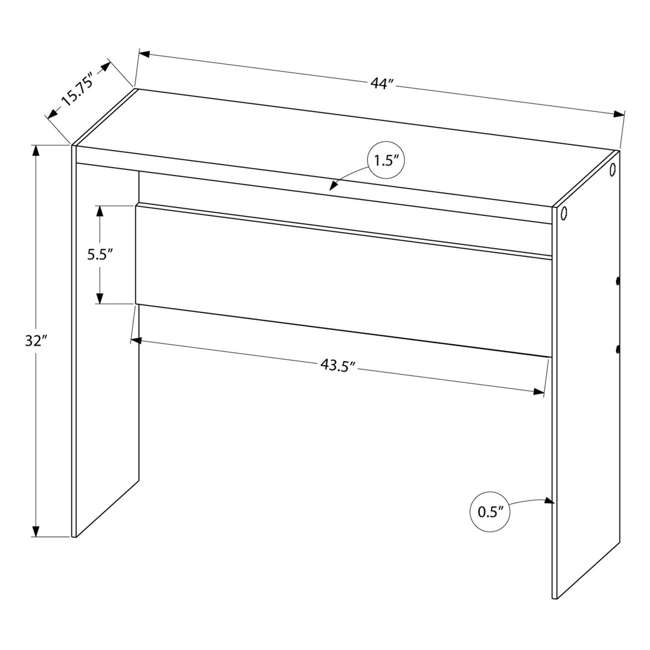 VM-3288-U-A Monarch Specialties Console Table w/ Tempered Glass, White (Open Box) (2 Pack) 3