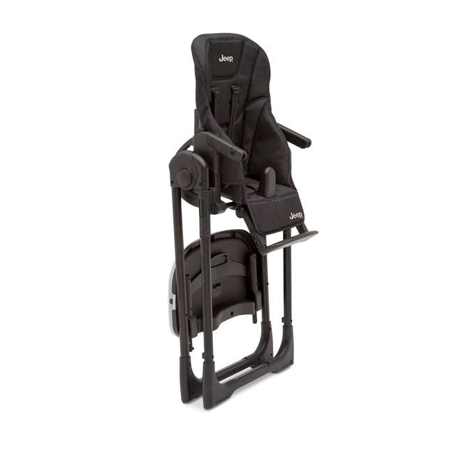 25008-2013 Jeep Classic Convertible Foldable High Chair for Babies and Toddlers, Black 3