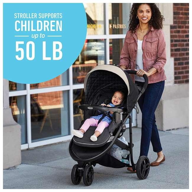2083432 Graco 2083432 Modes 3 Lite DLX Folding Convertible Toddler Baby Stroller, Pierce 6