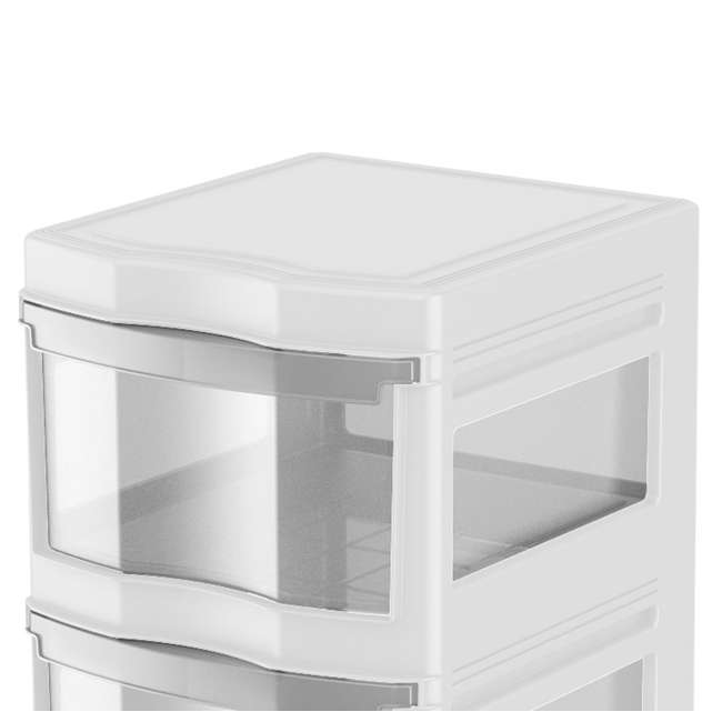 DRW3-M-WH-U-A Life Story 3 Shelf Storage Container Plastic Drawers, White (Open Box) (2 Pack) 1